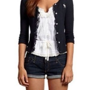 Hollister white lace tank size small
